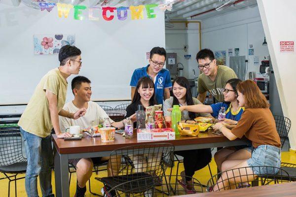 Students at dwell Selegie, Singapore